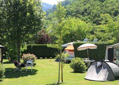Emplacement de camping à Luchon, Pyrénées